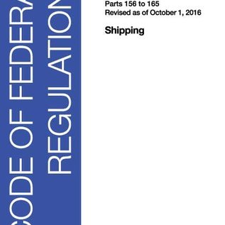 GPO CFR46 Volume 6 Parts 156 to 165 Shipping 2016