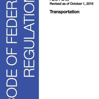 GPO CFR49 Volume 1 Parts 1-99, Transportation 2016