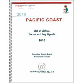 PIL Canadian Coast Guard Pacific Coast List of Lights, Buoys and Fog Signal