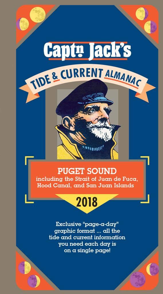 Captn Jacks Tide Current Almanac Puget Sound 2018 Pilothouse