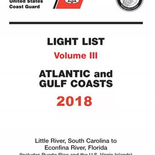 GPO USCG Light List 3 2018 Little River SC to Esconfina River FL