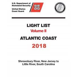 GPO USCG Light List 2 2018 Shrewsbury River NJ to Little River SC
