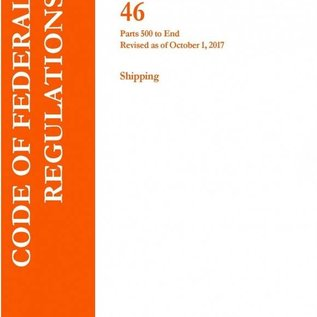 GPO CFR46 Volume 9 Parts 500 to End Shipping 2017
