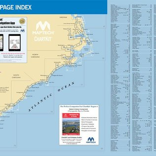 MTP ChartKit 6 Norfolk, Va.  to Florida and the Intracoastal Waterway by Maptech 14 ED.