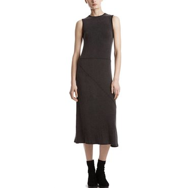 Black Midi Length Sleeveless Dress