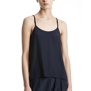 Midnight Silk Satin Cami