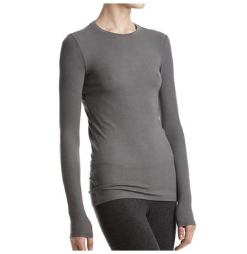 Long Sleeve Crew Neck Modal Rib