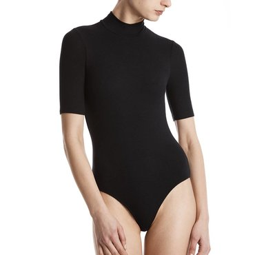 Short Sleeve Mock Neck Modal Rib Bodysuit