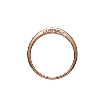 Mama 14K Rose Gold Ring