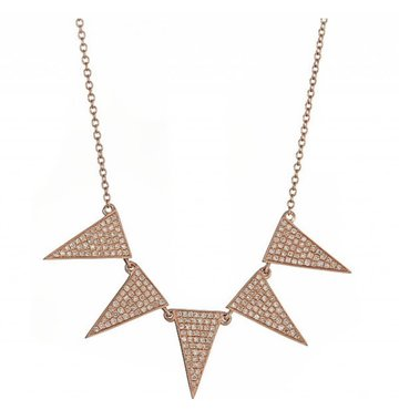 Triangle 14K Yellow Gold Necklace