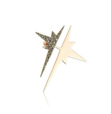 Champagne Diamond 14K Pink Gold Star Ear Jacket