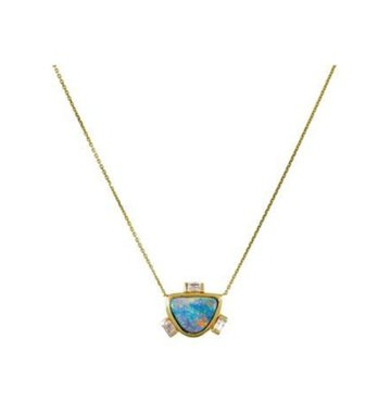 Opal 14K Yellow Gold Necklace- One Of A Kind