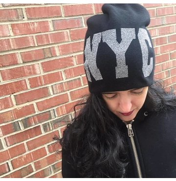 Black NYC Densely knitted 2-layer Cashmere Hat