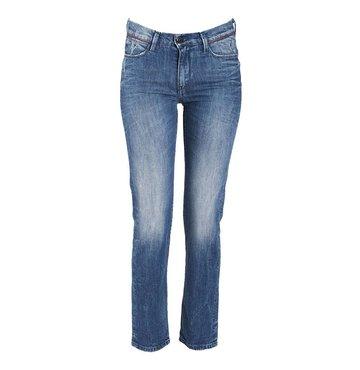 Straight Leg Mid-Rise Basic Jean