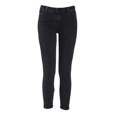 Skinny High Rise Washed Black Jean