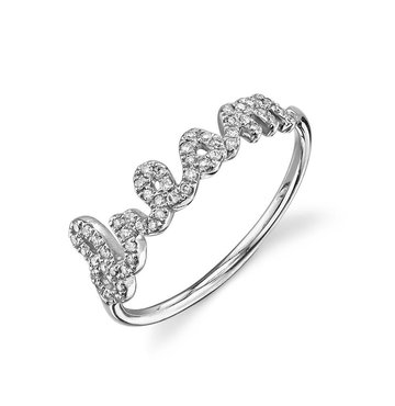 Pave White Diamond 14K White Gold Dream Ring