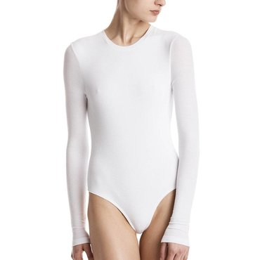 Long Sleeve Crew Neck Modal Rib Bodysuit