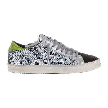 P448 Low Top Black And White Paillettes Sneaker