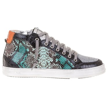 P448  High Top Turquoise Sneaker