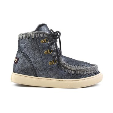 Mou Blue Mini Eskimo Sneaker Lace Up Boot