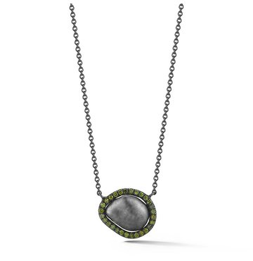Green Diamond and Tahitian Pearl Equator Necklace