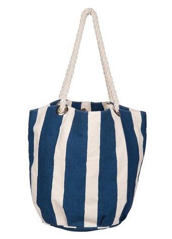 Rockflowerpaper Rockflowerpaper Cabana Stripe Navy Bucket Bag