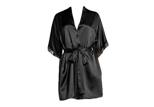 short robe w/ lace edge at sleeve (3/4 sleeve)