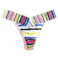 brighton stripe low rise thong