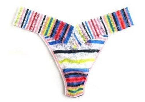 brighton stripe low rise thong