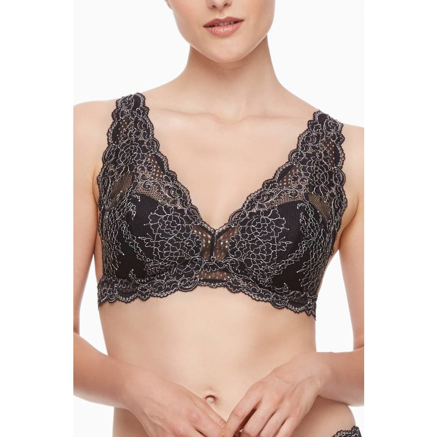 winter escape bralette w/ silk sash