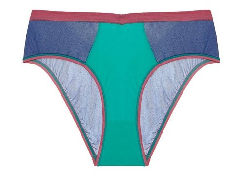 mixed mesh-ages high leg hotpant
