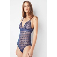 boomerang triangle soft cup bodysuit