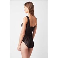 velvet bodysuit w/ lined cup