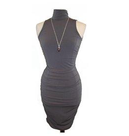Veronica M Veronica M Tneck Sleeveless Shirred Dress