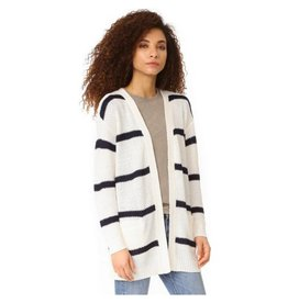 Cupcakes and Cashmere C&C Dark Navy/Wht Knit Cardi