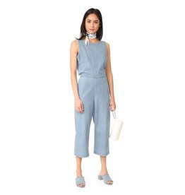 C&C Chambray Cropped Jumpsuit