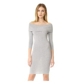 C&C Grey 3/4 Sleeve Dress