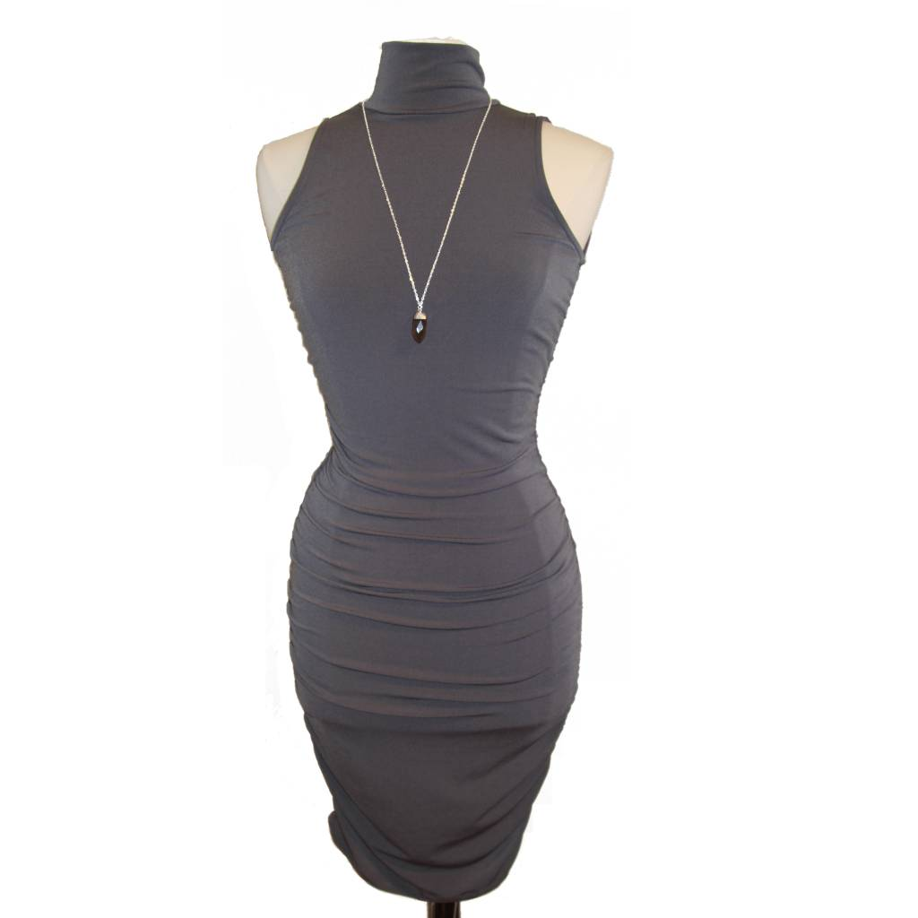 Veronica M Veronica M Tneck Sleeveless Shirred Dress