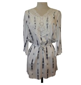 BB Dakota JACK Poe Crocheted Neckline Dress