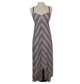BB Dakota JACK Ayers Long Stripe High Low Dress