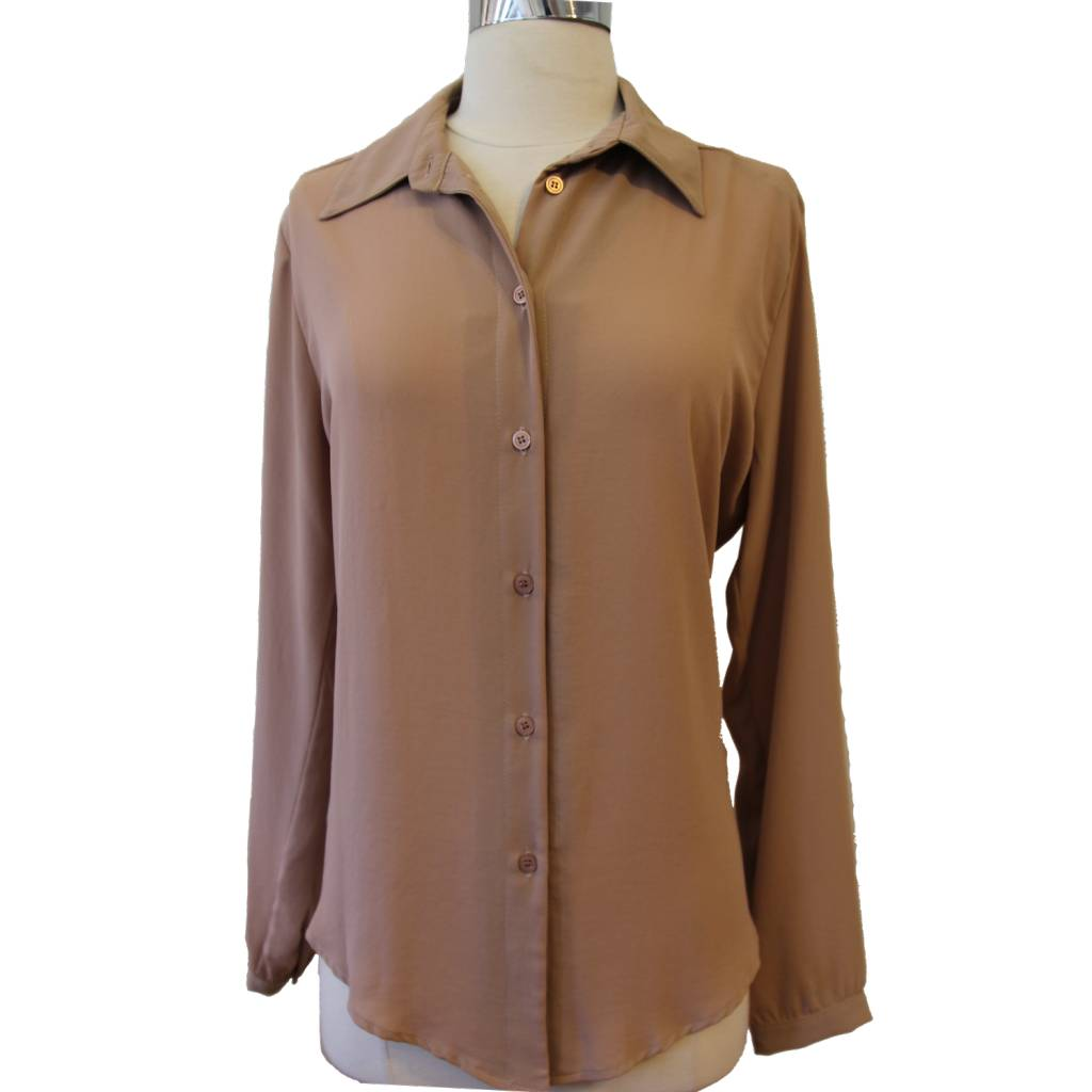 Veronica M Veronica M Button Up Blouse Mauve