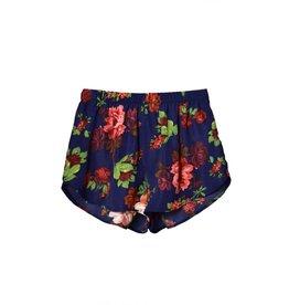 Navy Floral Shorts
