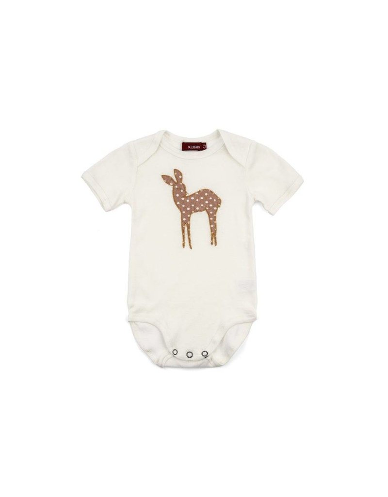 MILKBARN MILKBARN Animal Applique Onsie