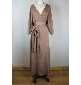 PPLA PPLA Champagne Wrap Maxi Dress