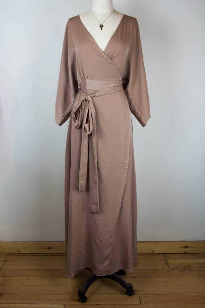 PPLA PPLA Champagne Wrap Maxi Dress