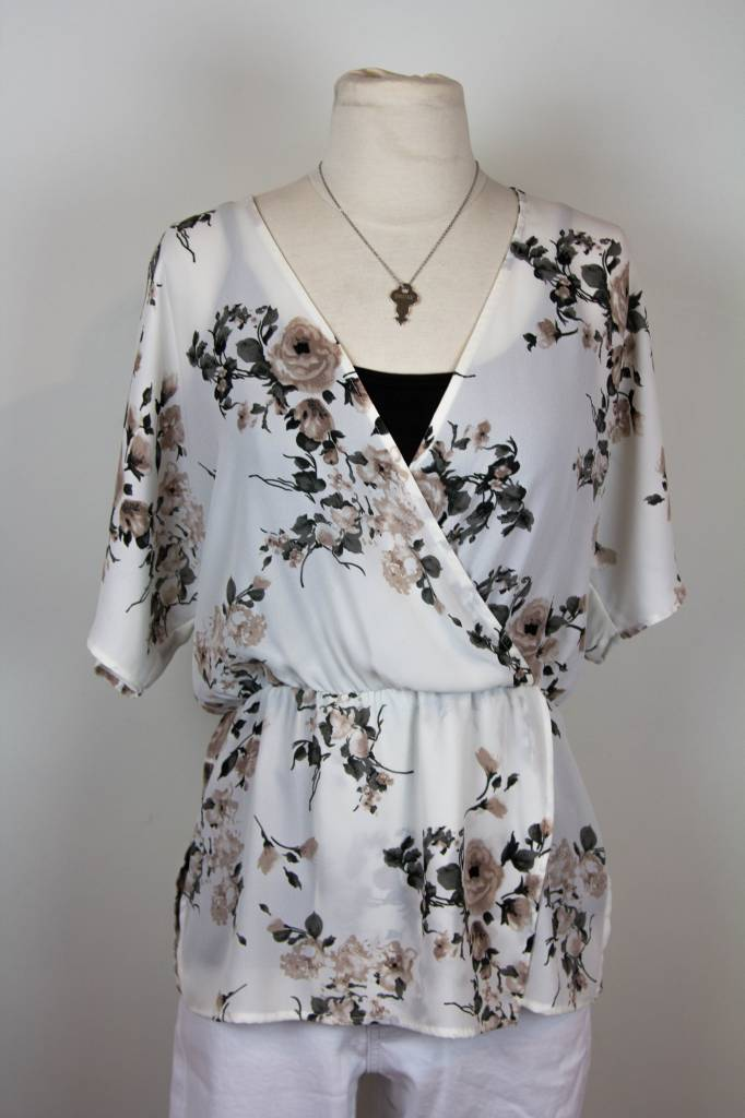 Veronica M Veronica M Floral Crossover Blouse