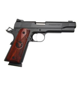 "Nighthawk Custom Predator 4047, 45 ACP, 5"", Wood Grips, Black Slide, Sniper Gray Frame, 8 Rds"