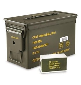 MAGTECH - 5.56 NATO M193 FMJ 55 GRAIN 1000 ROUND/CAN