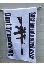 3'x5' SBR B&W Poly Flag