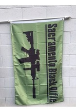 3'x5' SBR Green Poly Flag